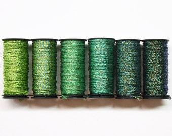 Kreinik Medium Braid 4.00 Each, Kreinik Metallic Braid, Kreinik Metallic Threads, Kreinik Braid, Metallic Yarns, Needlework Metallic Threads