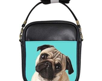 Shoulder Bag - Fawn Pug (Fawn pug teal / STYLE: 1152)