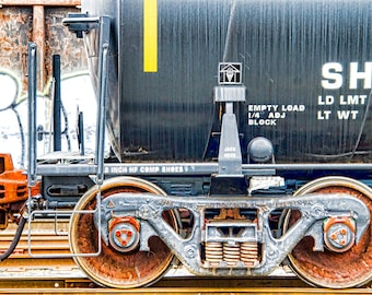 A Retired Tank Car : archival quality fine art photography, horizontal format, railroad