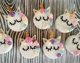 12 Chocolate covered unicorn Oreos unicorn party treats unicorn party favors