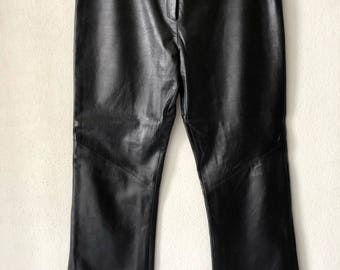 black pants made in Italy.