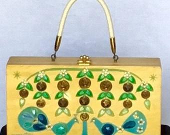 "Vintage 1960s Enid Collins ""Money Tree"" Box Handbag"