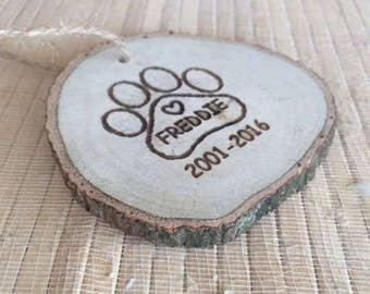 Christmas Ornaments, pet gift, paw print, Custom Dog Ornament, personalized pet ornament, pet memorial gift, pet loss gifts, pet keepsake