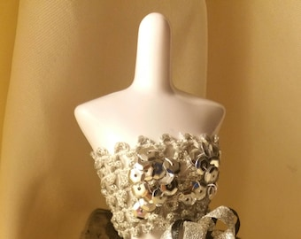 Doll Sequin Tube Top