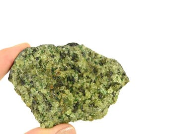 Peridot Volcanic Rock / Peridot on Lava / Healing Crystal/ 188g
