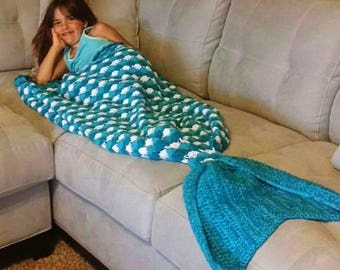 Mermaid tail blanket, mermaid tail, mermaid blanket, merman tail blanket, mermaid photo prop, newborn photos, couch throw, sleeping bag