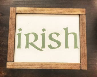 Irish Rustic Sign