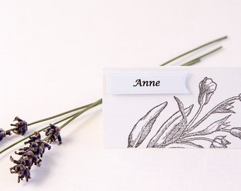 Floral Place Cards - Wedding Place Cards - Romantic Wedding - Name Cards - Place Cards - Wedding Place Names - Country Wedding