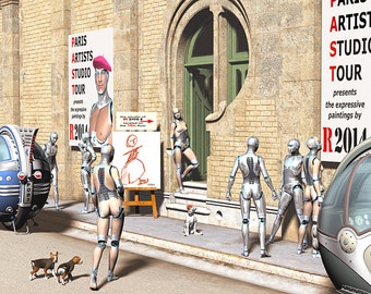 Android's Art Show in Paris - illustration, future, digital art