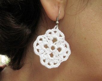 PDF Tutorial, Crochet Pattern, Crochet Earrings Pattern, Crochet Jewelry, Dangle Earrings -18