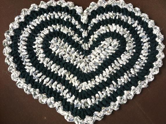 Crochet Heart ORIGINAL Rag Rug Pattern