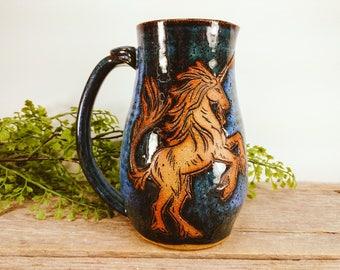 Unicorn Stein 28 oz - Unique Unicorn Mug - Unique Unicorn Gifts - Unicorn Lover Gift - Unicorn Mug - Mesiree Ceramics