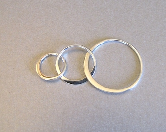 Sterling Silver Triple Circle Link