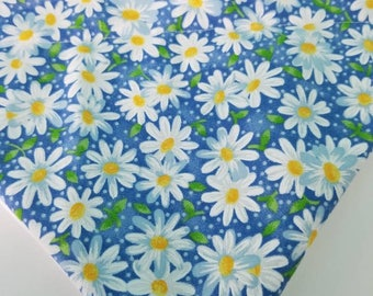 Daisies Over the Collar Dog Bandana that Slips onto their Existing Collar. Spring Flowers Dog Bandana. Spring Dog Bandana. Daisy Dog Bandana