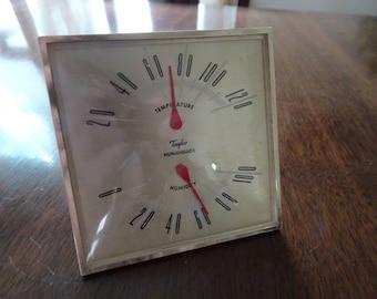 Humidiguide, Taylor Humidiguide, Vintage Humidity, Temperature Guage, Vintage Temperature, Thermometer, Humidity Gauge, Vintage Gauge, Temp
