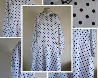 1980's Polka Dot Dress (M/L)