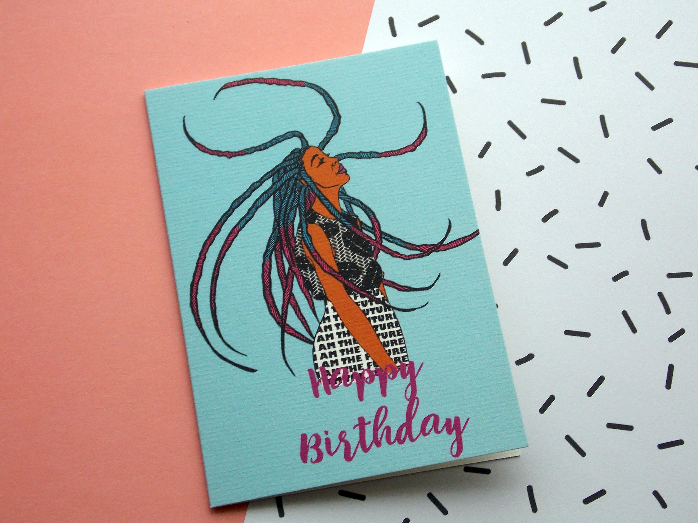 Birthday card maya birthday girl black girl magic description birthday girl greeting card kristyandbryce Images