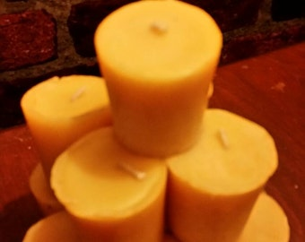 100% Beeswax Votives  Box of 6