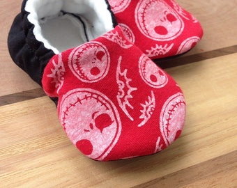 The nightmare before christmas baby clothes, Jack Skellington baby shoes, Jack Skellington shoes, vegan shoes, black shoes, christmas shoes