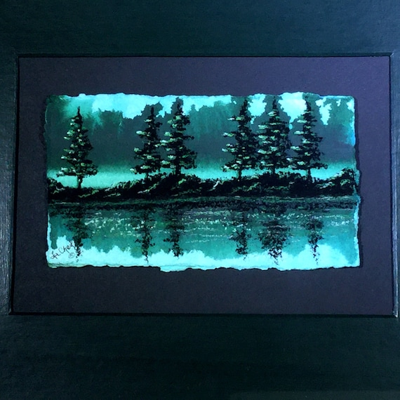 Forest Painting/Wall Decor/Landscape Painting in Green