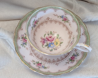 Vintage Teacup & Saucer by Tuscan England Fine Bone China