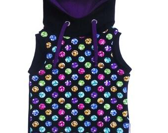 Sleeveless hoodies ' beads multicolored ' 12 - 18 months