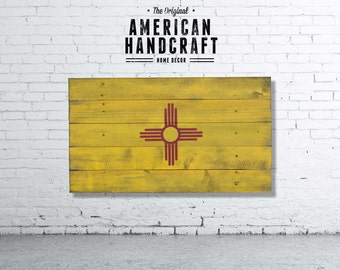 New Mexico - Handmade Distressed Wooden Flag