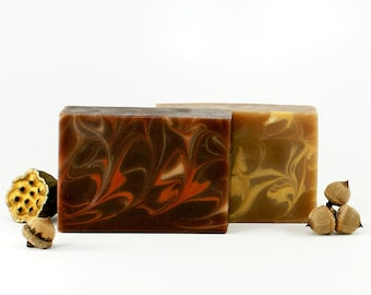 Holiday Soap Gift Set | Frankincense and Myrrh, Christmas Soap, Soap Set, Gift Idea For Women Men Kids, Gift Wrapped | Set of Two Soaps