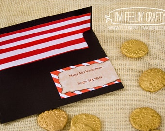 Pirate Party Lined Envelopes