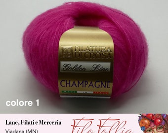 Champagne ball of cashmere and silk merino wool