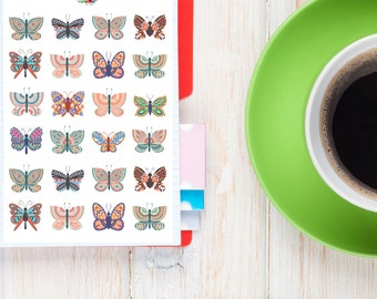 Colourful Butterfly Planner Stickers | Nature Stickers | Butterfly Stickers | Cute Butterfly Stickers | Decorative Stickers (S-124)