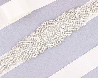 Silver Wedding Belt Sash Rhinestone Bridal Belt Bridesmaid Belt Wedding Dress Belt Rhinestone Belt Bridal Sash Crystal Beaded Belt for Dress