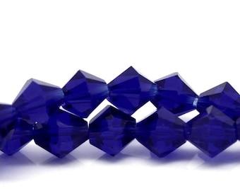 Royal Blue Bicone Beads - Sold per strand - #CB121