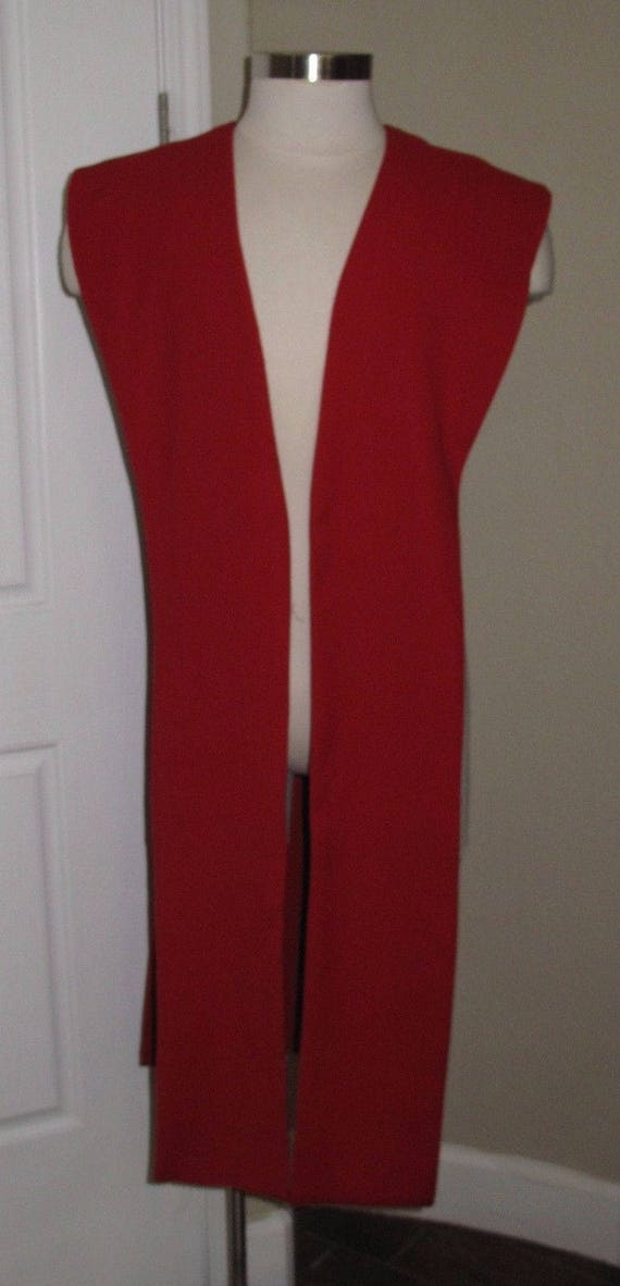 Red poplin fabric tabards no sash in 10 sizes
