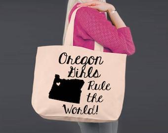 Oregon   Bridesmaid Tote   Tote Bag   Canvas Tote Bag   Beach Tote   Canvas Tote   Shopping Tote   Shopping Bag   Korena Loves