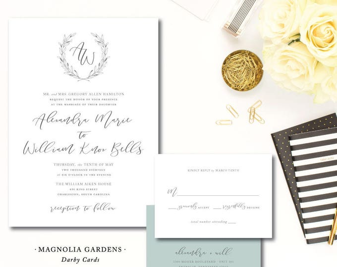 Featured listing image: Magnolia Gardens Wedding Invitations