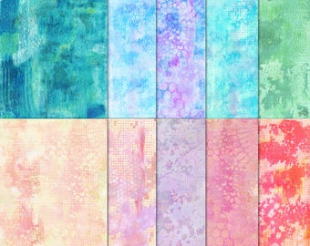 Digital Papers - Monoprint Backgrounds for art, mixed media, art journaling, card making and papercraft
