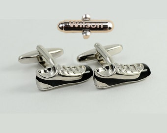 Football Boots Soccer Shoes Cufflinks,Jogging Shoes Cufflinks ,Gifts for Men, Anniversary Gift,Name or Initials,gift for young men