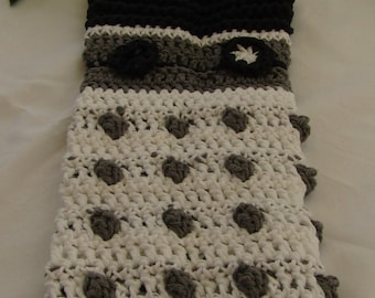 Crocheted Hanging Towel Inspired by Daleks White Exfoliate!