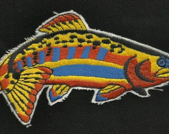 Rainbow Trout Fish Fishing Collectors Patch New Old Stock