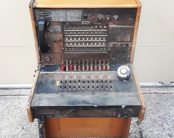 Switchboard - Bell System made by Western Electric antique vintage retro phone telephone operator Chicago mid century MCM 30s 40s 50s 60s