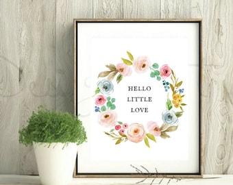 Boho Nursery Printable Art, Printable Wall Art Nursery Floral, Botanical Nursery Printable, Nursery Floral Wall Art, Watercolor Flowers
