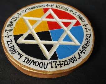 Golden Dawn Pentacle of Earth | Earth Pentacle | Elemental Disk