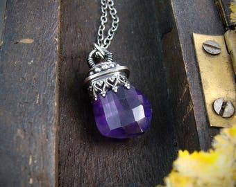 pendulum ... amethyst pendant