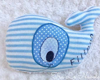Whale cloth Children's toy decorative bearing