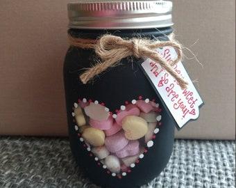 Mason jar treat jar