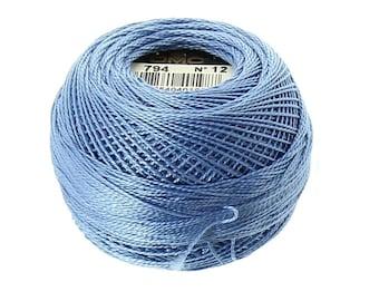 DMC 794 Light Cornflower Blue Size 12 - Perle Cotton Thread