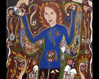 Vibrant Full Color Poster of Natalia Estemirova- Justice Activist/Journalist  of Chechnya