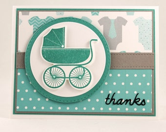 Baby Boy Thank You Card, Baby Shower Thank You Card, Thank You Baby Card