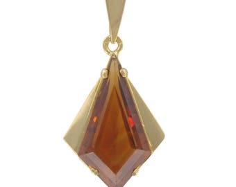 Vintage citrine Vintage classic 18K yellow gold pendant